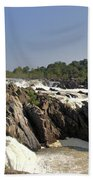 Great Falls On The Potomac Panorama  Beach Towel