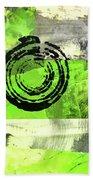 Green Balance No. 4 Beach Towel