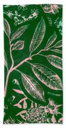 Green Composition Beach Towel