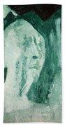 Green Portrait Beach Towel
