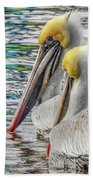 Greeting Party Beach Towel