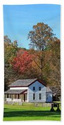Gregg Cable House In Cades Cove Historic Area Of The Smoky Mountains Beach Towel