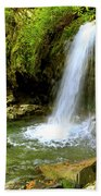 Grotto Falls On Trillium Gap Trail In Smoky Mountains National Park Beach Towel