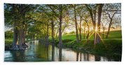 Guadalupe River Sunset Beach Towel