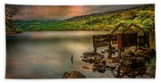 Gwynant Lake Old Boat House Beach Towel