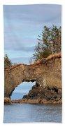 Halibut Cove Rock Formation Kenai Peninsula Alaska Beach Towel