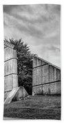 Halifax Explosion Memorial Bell Tower Bw Beach Sheet
