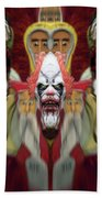 Halloween Scary Clown Heads Mirrored Beach Towel