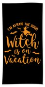 Halloween Shirt Good Witch On Vacation Gift Tee Beach Towel