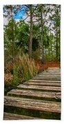 Halpatiokee Footbridge Beach Towel by Tom Claud