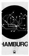 Hamburg Black Subway Map Beach Sheet