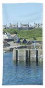 harbour at St. Abbs, Berwickshire Beach Towel