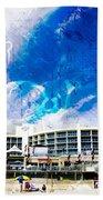 Hard Rock Beach Abstract Beach Towel