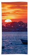 Harpswell Sunset Beach Towel
