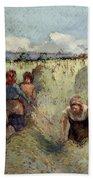 Haymaking, 1895 Beach Towel