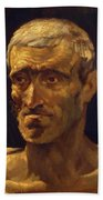 Head Of A Shipwrecked Man Study For The Raft Of Medusa 1819 Beach Towel