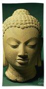 Head Of The Buddha, Sarnath Beach Towel