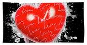 Heart Art Beach Sheet