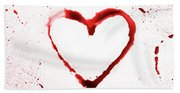Heart Shape From Splaches And Blobs Beach Towel