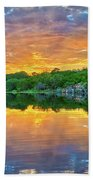 Heavenly Reflections In The Hill Country Beach Sheet