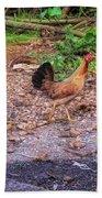 He'eia Kea Chickens Beach Towel