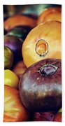 Heirloom Tomatoes At The Farmers Market Beach Towel
