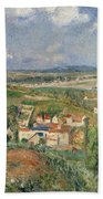 Hermitage In Summer, Pontoise, 1877 Beach Towel