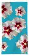 Hibiscus Flower Pattern Beach Towel