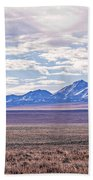 High Plains And Majestic Mountains Beach Sheet