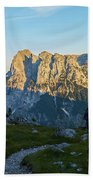 Hiker In The Morning Beach Towel