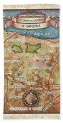 Hiking Map El Camino Spain Map Custom Map Art Beach Towel
