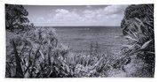 Hiking On Tiritiri Matangi New Zealand Bw Beach Sheet