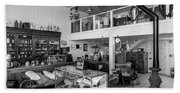 Hindsman General Store - Allensworth State Park - Black And White Beach Towel