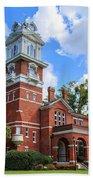 Historic Gwinnett County Courthouse Beach Towel by Doug Camara