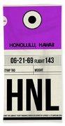Hnl Honolulu Luggage Tag I Beach Towel