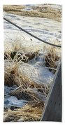 Hoar Frost On A Fence Along Turnagain Arm On The Seward Highway Alaska Beach Sheet