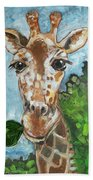 Hobbes Giraffe Beach Towel