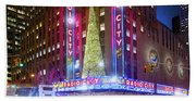 Holiday Season At Radio City Music Hall  Beach Sheet