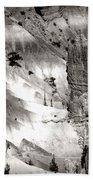 Hoodoo's Black White Utah  Beach Towel