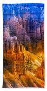 Hoodoo's Rainbow Color Mix Bryce Canyon  Beach Towel