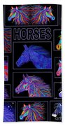 Horses Poster Beach Towel