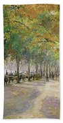 Hyde Park, London, 1890 Beach Towel