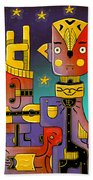 I Come In Peace - Heavy Metal Beach Towel by Sotuland Art