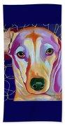 I Should Have Been Jackson Pollock's Dog Beach Towel