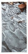 Ice Swirls Beach Towel