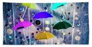 Imagination Raining Wild Beach Sheet