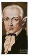 Immanuel Kant, Philosopher, Born In Konigsberg, Germany Beach Towel