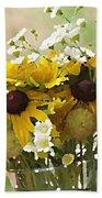 Impressionist Wildflower Arrangement Beach Towel by Shelli Fitzpatrick