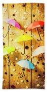 In Rainy Fashion Beach Towel
