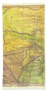 Indian Territory Tribal Map Northern Texas Beach Towel